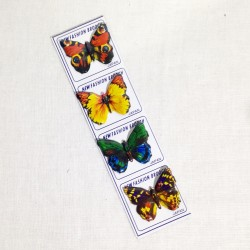 Lot de 4 broches papillons