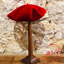 Beret basque rouge enfant